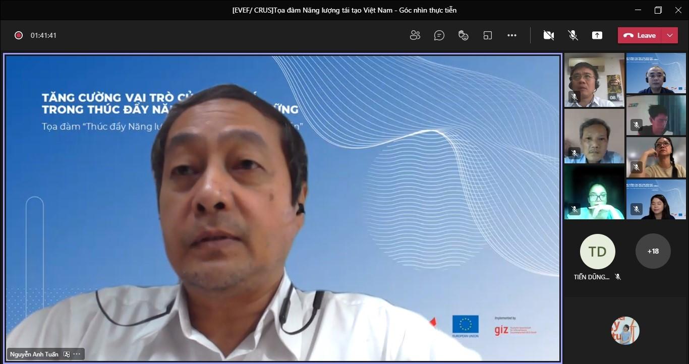 Ông Nguyễn Anh Tuấn – Giám đốc Trung tâm Năng lượng tái tạo, Viện Năng lượng, Bộ Công thương