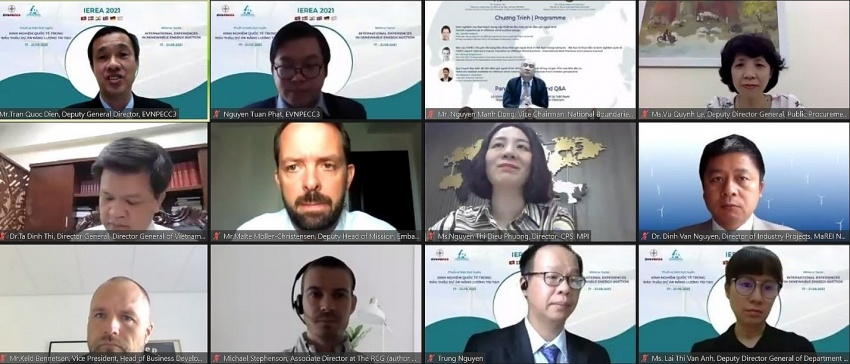 vietnamese and international experts shared experience in renewable energy auction